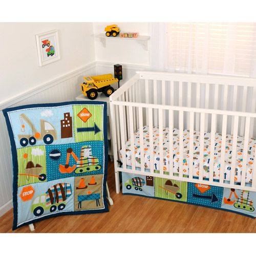 63 Best Nursery Ideas Images On Pinterest Baby Room Babies Rooms Construction Bedding Set