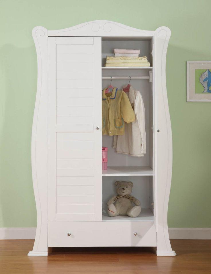 lemari pakaian anak klasik ulir dua pintu