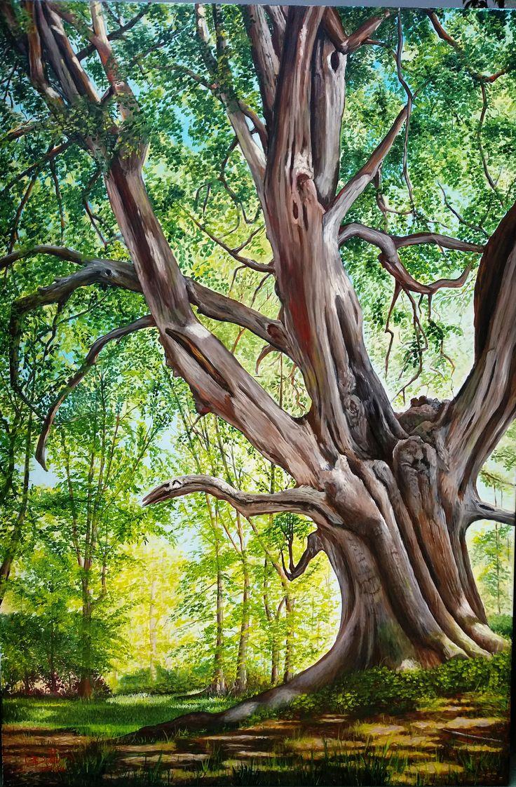 """Árbol """"con historia"""" óleo sobre tela de 80 x 120 cms ORIGINAL - VENDIDO"""