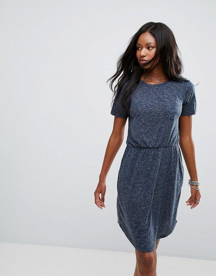 VERO MODA WAISTED JERSEY DRESS - BLACK. #veromoda #cloth #