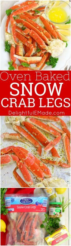 Want to know how to make Snow Crab Legs in the oven? With just 5 ingredients from ALDI, this simple Oven Baked Snow Crab Legs recipe comes together quickly and easily. Perfect for your holiday parties and dinners! #ad #ALDILove #snowcrablegs #snowcrab #howtomakecrablegs #bakedcrablegs