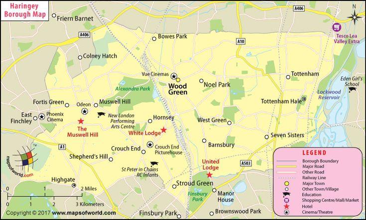 Haringey Borough Map, London