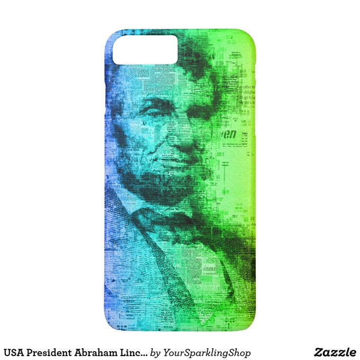 USA President Abraham Lincoln Rainbow Typography Phone Case