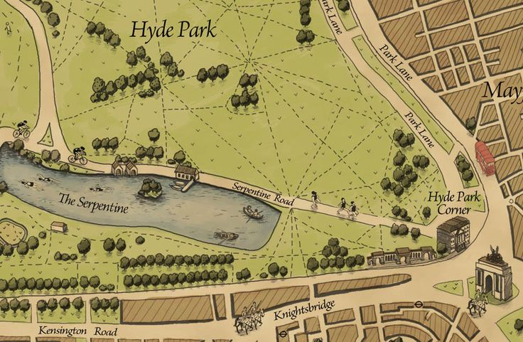 Wellingtons Travel 1800s style #London Hyde Park Map: Grand Maps, Travel Maps, Hyde Parks, London Maps, Decor Maps, Maps London, Travel Grand, Hands Drawn, Wellington Travel