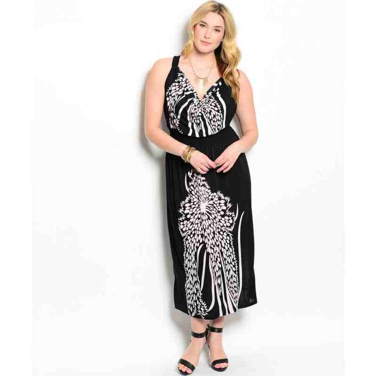 PRE-ORDER - BLACK WHITE PLUS SIZE DRESS $44.00 http://www.curvyclothing.com.au/index.php?route=product/product&path=95_101&product_id=8696&limit=100