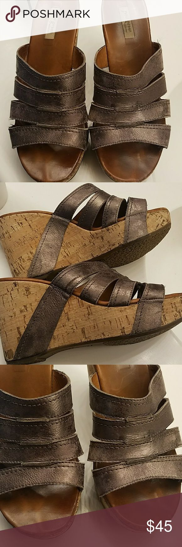 Gently used Paul Green made in Munchen Cute. Copper color open toes sandles used but in great condition super cute for summer with jeans or dresses shoe size in Munchen says 5 1/2 in USA they are a size 8 super comphie Paul Green Shoes Platforms