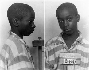 """""""In a South Carolina prison more than sixty-six years ago, guards walked a 14-year-old boy, bible tucked under his arm, to the electric chair. At 5' 1"""" and 95 pounds, the straps didn't fit, and an electrode was too big for his leg.  The switch was pulled and the adult sized death mask fell from George Stinney's face. Tears streamed from his eyes. Witnesses recoiled in horror as they watched the youngest person executed in the United States in the past century die."""