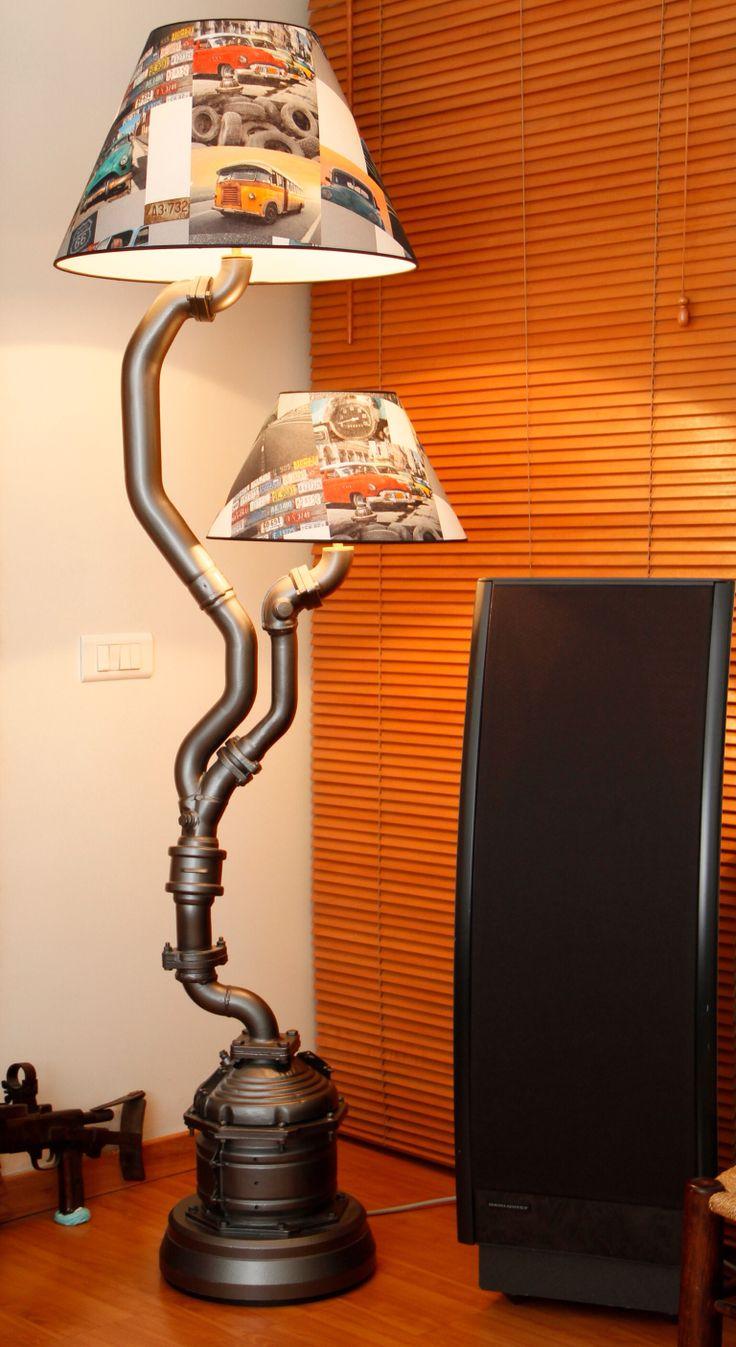 14 best car parts art images on pinterest car parts buffet lamps floor lamp by karim sassine lamp from car parts aloadofball Images