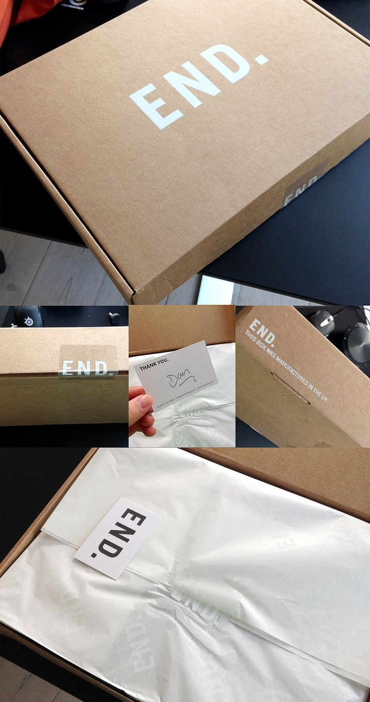 End Clothing UK Shipping Box More More