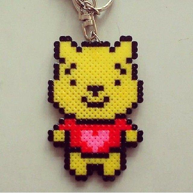 Winnie the Pooh perler beads by pbpixelbeads
