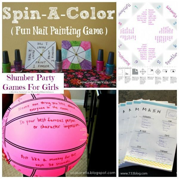 Slumber Party Games for Girls #SlumberParty