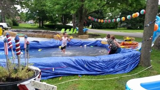 17 best images about preschool playground on pinterest - Redneck swimming pool with hay bales ...