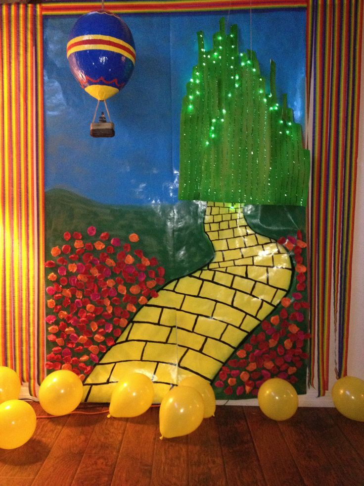 Wizard of Oz Backdrops for Parties   Oz party photo backdrop