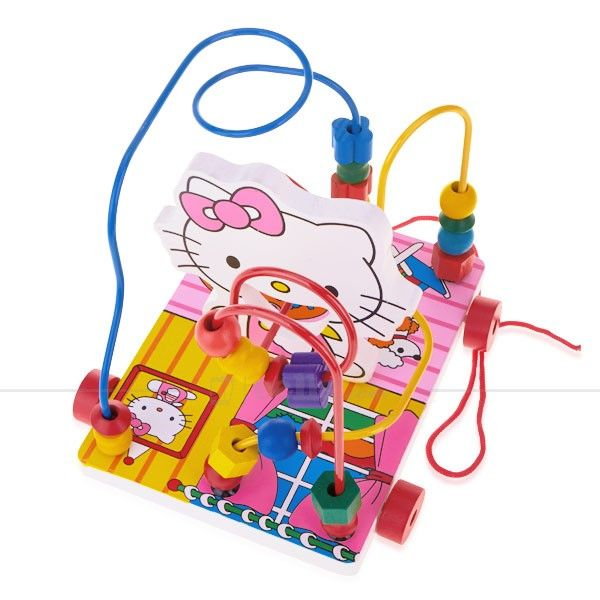 Kitty Cat Circles the Bead Wood for 3+ Ages Children #hellokitty #toy #kids #kitty