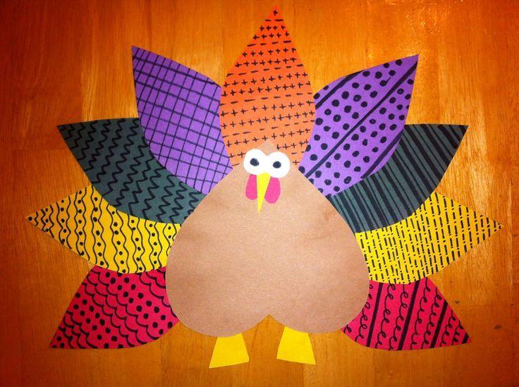 thanksgiving art projects elementary | Pattern turkey = math + Thanksgiving art! Thank you, Childmode.com ...