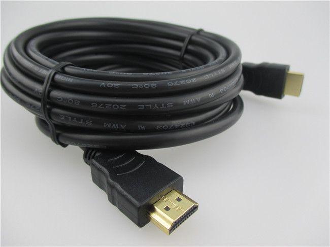 1 шт./лот Бесплатная Доставка 5 М 1.4 В позолоченные Кабеля HDMI кабо кабель адаптера мужчины к мужчине М/М для 1080 P PS3 HDTV ЖК-