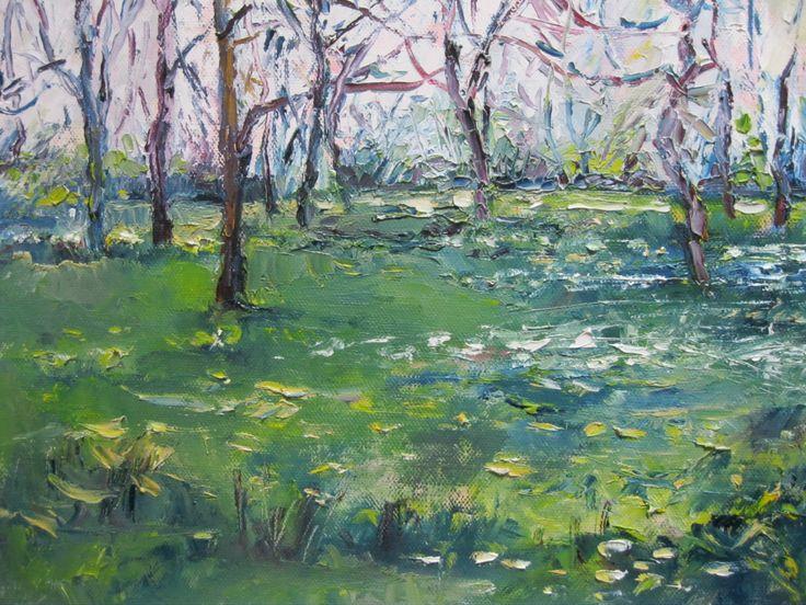 """""""Springtime, Botanic Gardens"""" 12 x 10inches www.niamhslack.com"""