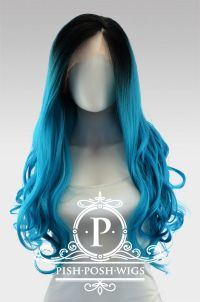 Stefani Teal Ombre Lace Front Wig
