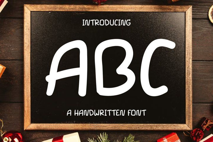 Abc Text Font Hand Lettering Handwriting Otf Ttf Round Handcrafted Friendly Abc Font Font Bundles Abc