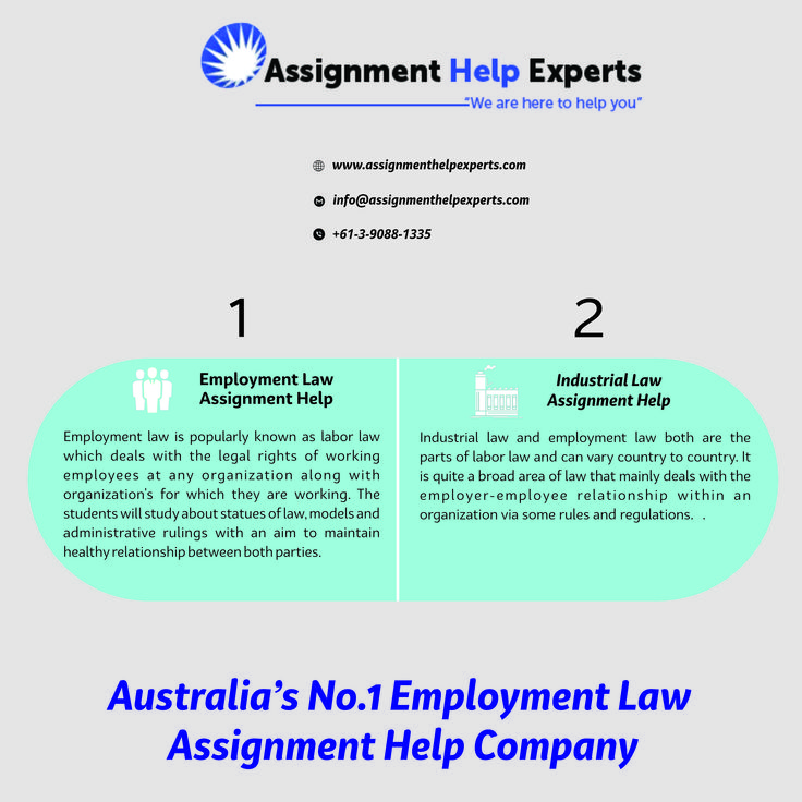 Get employment law assignment help from experienced writes