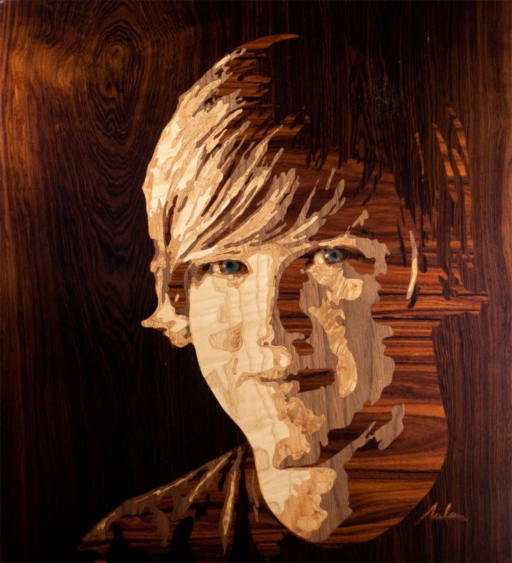 Marquetry   Rob Milam From Atlanta, Georgia Creates These Portraits From  Wood Veneers Using An Artform Known As U201cmarquetryu201d.