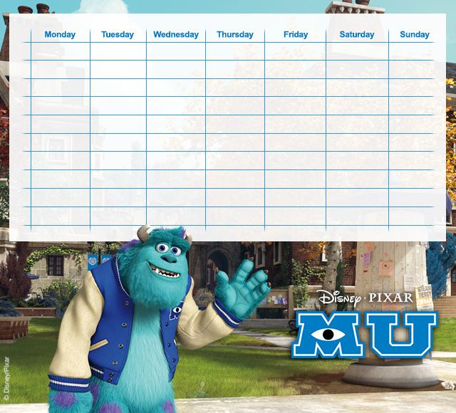 Monsters University Timetables 11