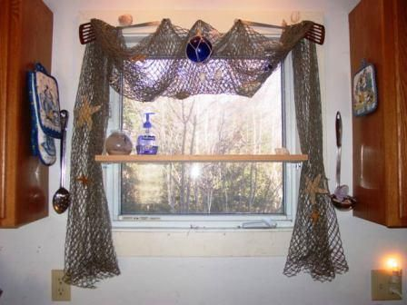 Cool window treatment if you don't mind not having a way to close your window shades.