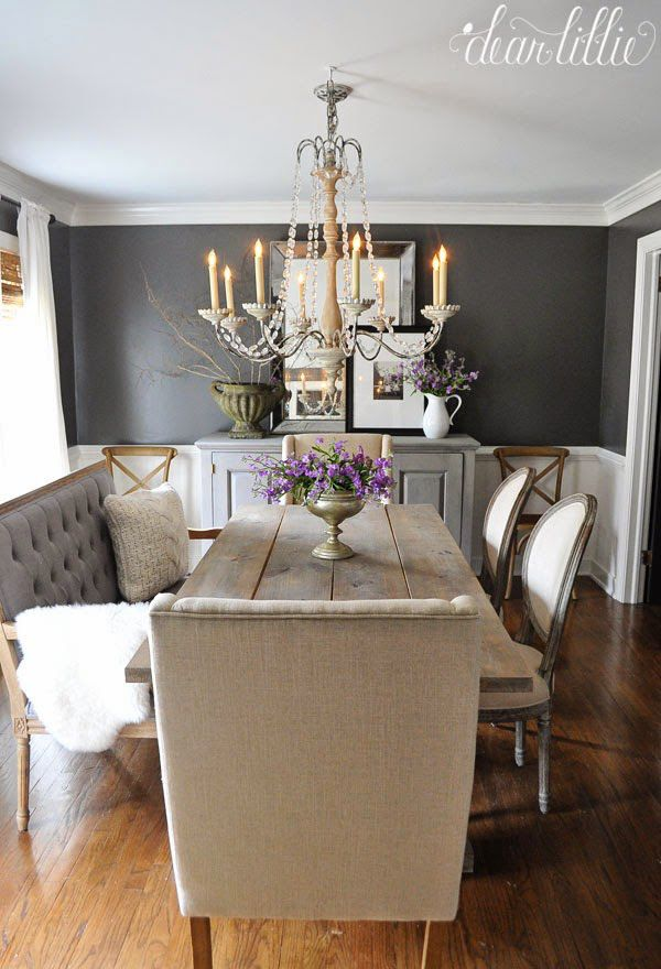 Favorite Things Friday Dear Lillie Rustic Dining RoomsGrey Room ChairsPainted