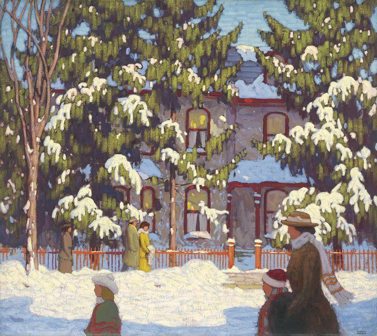 Winter Afternoon, City Street, Toronto or Sunday Morning by Lawren Stewart Harris