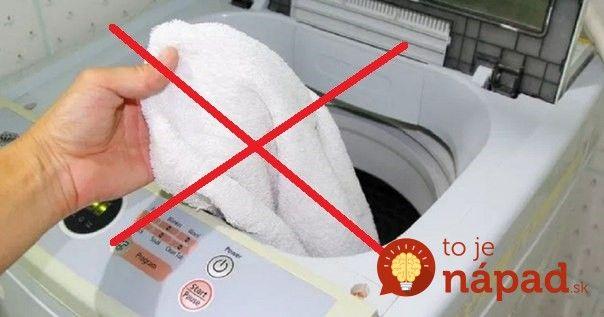 Zmizne mastnota aj odolné škvrny. Takto budú vaše uteráky opäť perfektne čisté!