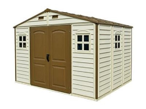 Woodside 10x8 Plastic Shed 3 Windows And A Foundation Kit With Images Diy Shed Plans Duramax Sheds Shed Plans
