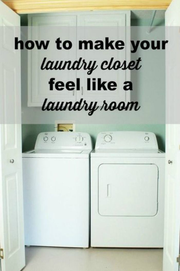 Awesome How to Make Your Laundry Closet Feel Like A Laundry Room