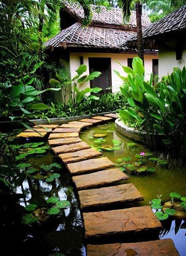 Spectacular Gartenwege gestalten trittsteine beliebt garten gestalten ideen