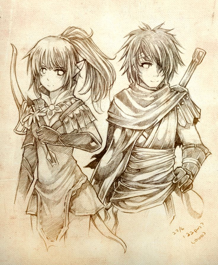 Dragon Nest: Warriors' Dawn - Liya & Lambert fan art (1200x1460)