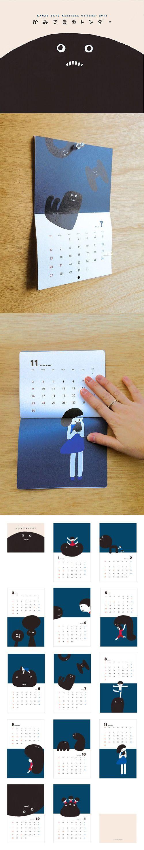 かみさまカレンダー http://www.iichi.com/shop/kanaes: