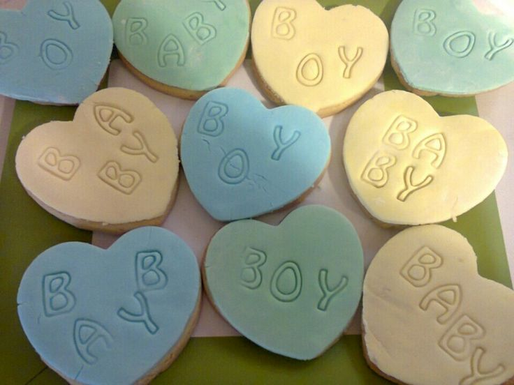 Cookies for a newborn baby boy