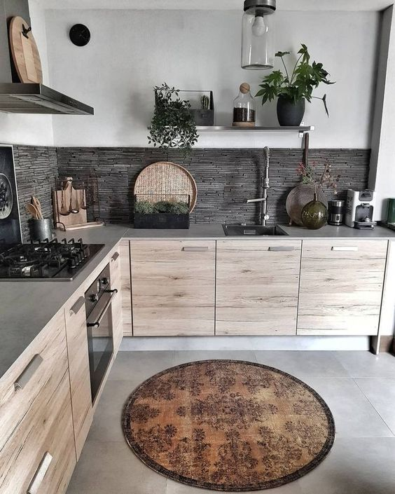 Modèles de cuisine en bois modernes