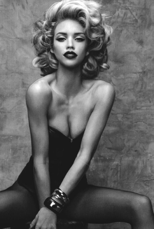 hair and makeup. Pin up style - like this. Not cheesy, just classic