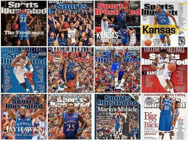 Numerous SI covers of famous Jayhawks.. of course