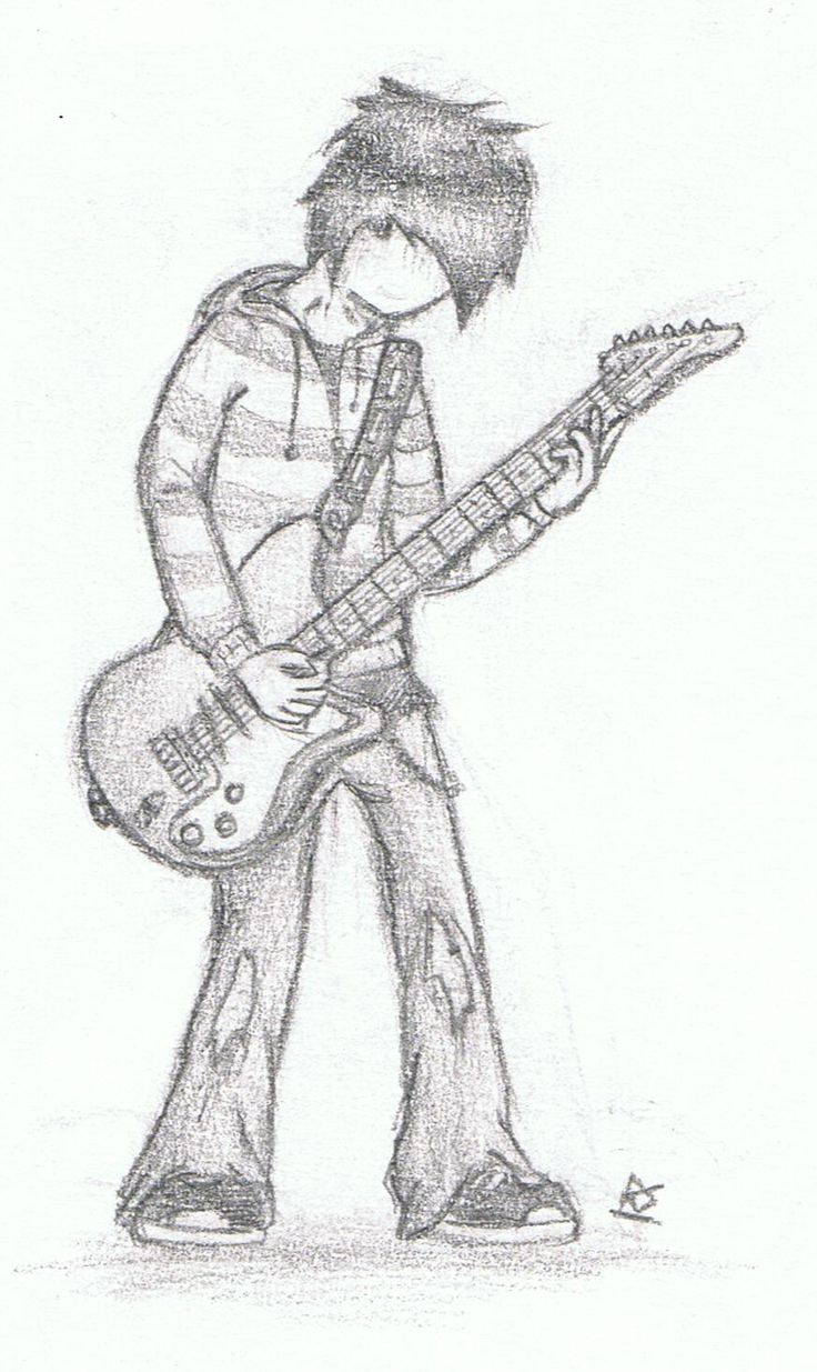 sad girl with guitar drawing Google Search Projects to