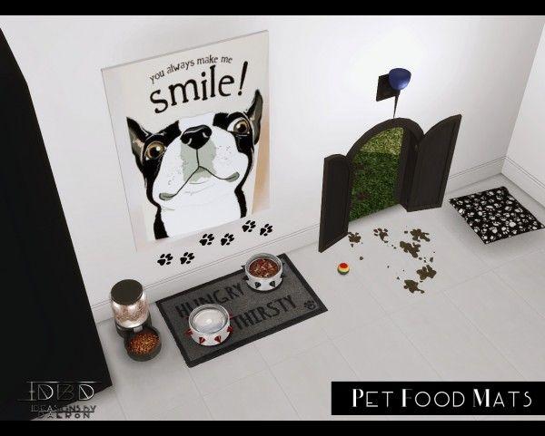 Sims 4 Designs Pet Food Mats Sims 4 Downloads Sims 4 Pets Mod Sims Pets Sims 4