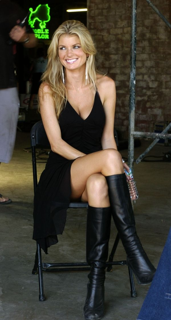 Marisa Miller dress and boots perfect combo