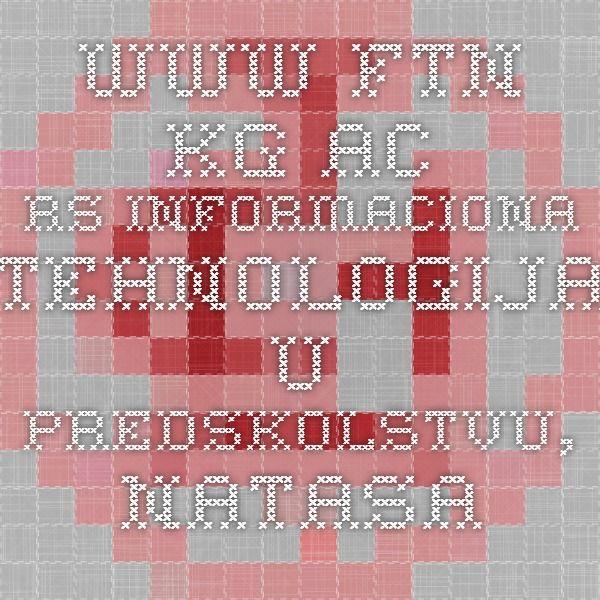 2008  Informaciona tehnologija u predskolstvu, Natasa Andjelkocvic ,