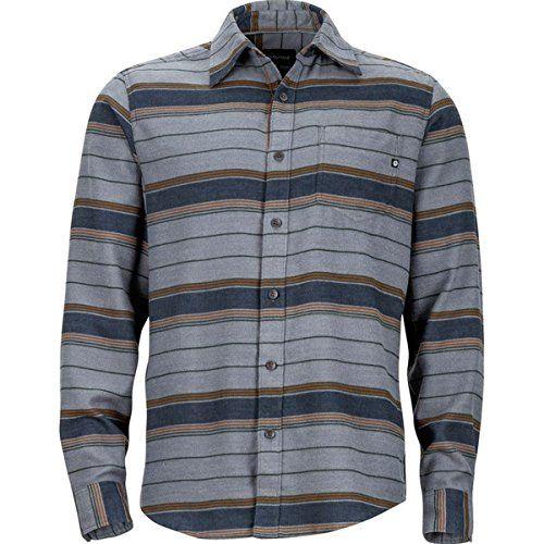 (マーモット) Marmot メンズ トップス 長袖シャツ Enfield Flannel Shirt 並行輸入品  新品【取り寄せ商品のため、お届けまでに2週間前後かかります。】 カラー:Steel Heather 商品詳細:Material:57% cotton, 43% CoolMax twill flannel