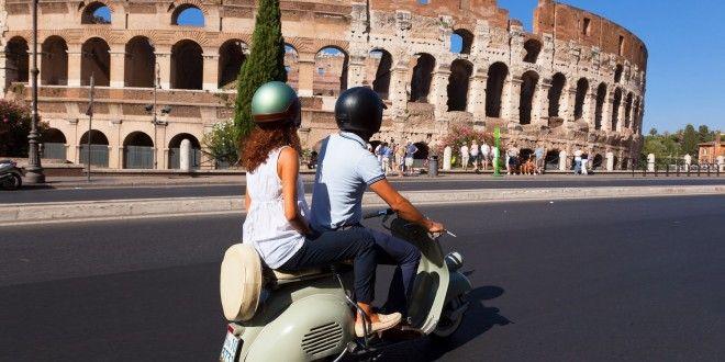 Vespa Vintage em Roma #italia #roma