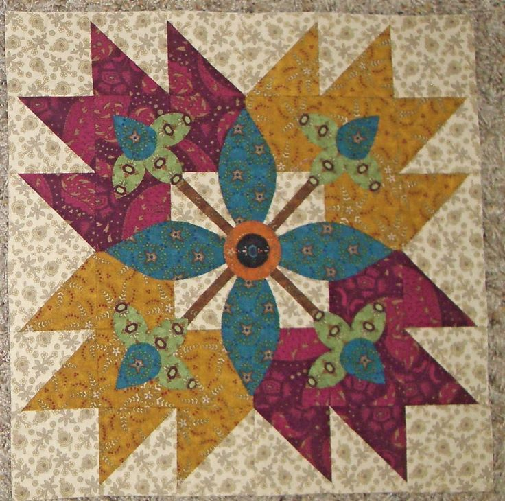 """If you read my blog regularly, you will have heard me mention belonging to a """"First Saturday Block of the Month"""" group at a local quilt sho..."""