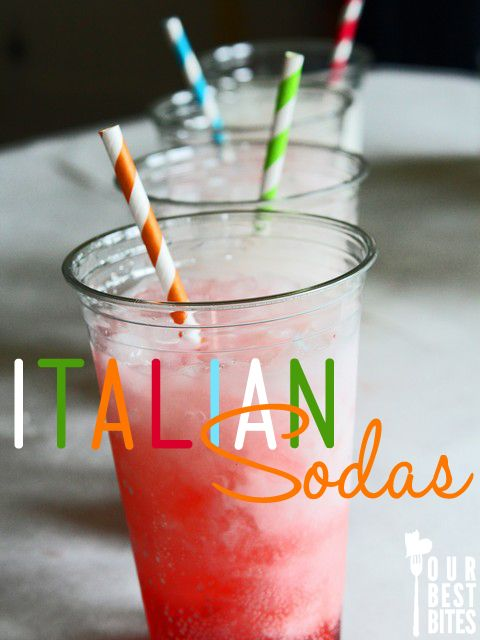 One of our most favorite things to do for parties- Italian Soda Bar!