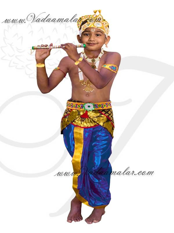 16876abd36ff Buy Fancydress Krishna Costume For Kids with accessories for ...