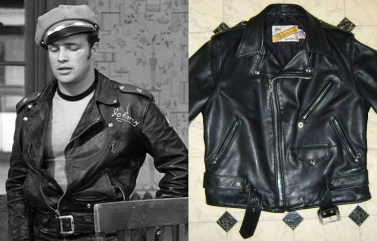 PERFECTO JACKET (ICONIC MOTORCYCLE JACKET) CREATED BY SCHOTT IN THE1920'S.  FIT IS SHORT FOR COMFORT WHILE RIDING, LONGER ARMS TO COVER UP HANDS WHEN ARMS ARE OUTSTRETCHED. ORIGINALLY HORSEHIDE/NOW COWHIDE. ASSYM FRONT ZIPPER, CHEST POCKET, 2 HIP POCKETS, DOUBLE COLLAR THAT OPENS UP FURTHER DOWN THE CHEST, A WAIST BUCKLE, SILVER COLORED HARDWARE. Know Your Jackets: The Stories Behind 9 Pieces of Classic Outerwear