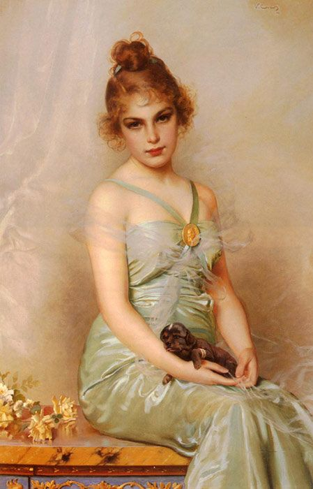 "Vittorio Matteo Corcos - ""The Wounded Puppy"" (1899)"